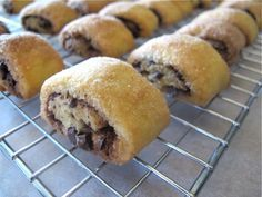 Easy Chocolate Rugelach. I would use chocolate chips instead of bittersweet chocolate!