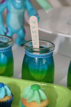 This Monsters Inc birthday party is any little monster lovers dream come true! The attention to detail is amazing and we are loving the monster snacks!