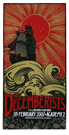 The Decemberists Manchester Concert Poster by Mike King