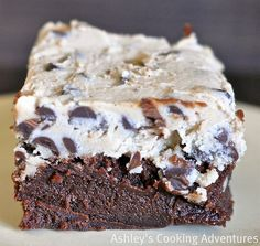 Cookie batter brownies. No eggs so no worries. Something to help with these crazy sweets cravings, yum!