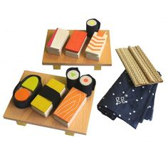 WOODEN SUSHI SET. #Kids #Gifts #Toys