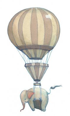 Neesha Hudson Illustration: Hot Air Balloons...and Elephants Two of my favorite things together!
