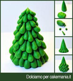 Tutorial di cake design: come fare un albero di Natale con gocce di pasta di zucchero