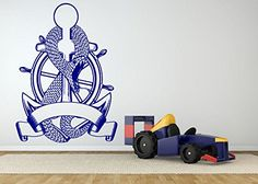 Wall Room Decor Art Vinyl Sticker Mural Decal Navy Anchor Snake Tattoo AS1898. See description for different sizes!. Quick shipping!. High quality product!. Made in USA. Instruction included!.