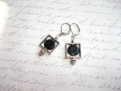 Geometric square earrings de la boutique BijouxdeBrigitte sur Etsy