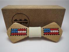 Wood Bow Tie / Patriot / Mens Accessories / Mens necktie / 100% hand made / Best personal gift