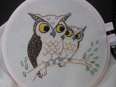 Vintage Owl Embroidery - NEEDLEWORK