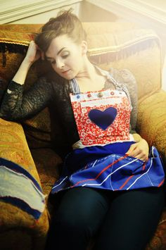 Anchors Away Utility Apron by AliceEleanor on Etsy, £40.00    Photograph by Rebecca Palmer   Modelled By Emma Divine