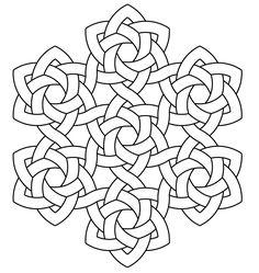 celtic knotwork hexarose7 by Peter Mulkers