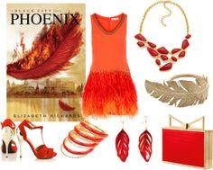 Phoenix - http://myfashionobsessedlookbook.blogspot.com/2013/11/book-looks-11-phoenix-by-elizabeth.html
