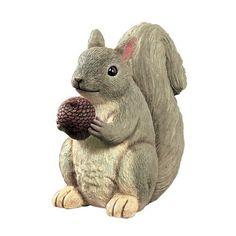 Grasslands Road Garden Life Happy Squirrel with Acorn Hide a Key Figurine Happy Squirrel, Cute Squirrel, Squirrels, Garden Animal Statues, Garden Statues, Armadillo Lizard, Rabbit Sculpture, Sculpture Garden, Hide A Key