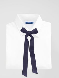The Silk Lavalliere Bow Tie in Black is a contemporary take on a classic accessory, ideal for hospitality staff or corporate uniform style Corporate Uniforms, Staff Uniforms, Skinny Ties, White Women, One Size Fits All, Bows, Silk, Navy, Neck Ties