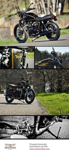 #Triumph Bonneville Gold Edition by FCR ~ featured on Moto Rivista