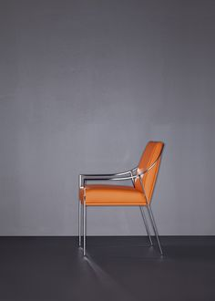 Another Great Shot Of The Aileron Chair In Orange Leather.