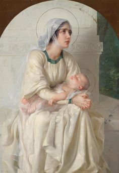 19th Century Italian School  Madonna with Child
