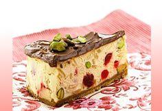 Desserts - Baked Nougat Cheesecake with Toblerone Ganache from http://www.kraftcanada.com/en/recipes/baked-nougat-cheesecake-toblerone-104965.aspx