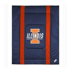 Ncaa University of Illinois Sidelines Comforter, Blue