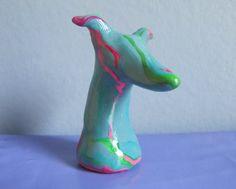 Greyhound Whippet Figurine Sculpture by GreyhoundCleyhounds