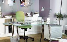 glass office desk