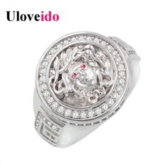 Find More Rings Information about Uloveido Vintage Medusa Rings for Women Wide Silver Plated Antique Face Rings with Red Stone Round Crystal Jewellery Punk Y157,High Quality ring ds,China ring stick Suppliers, Cheap ring beetle from D&C Fashion Jewelry Buy to Get a Free Gift on Aliexpress.com