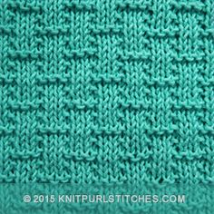 Simple Basketweave knitting pattern. Its great beginners knitting practice.