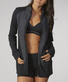 Look at this Black Mia Jacket on #zulily today!