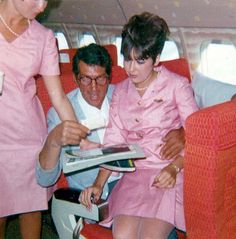 Dean Martin on a Plane