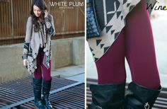 GroopDealz   Solid Colored Fleece Leggings! -7 Color Options!