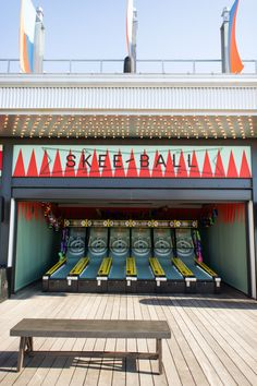 Skyline Park at Ponce City Market: Atlanta event venue featuring classic carnival games, a slide and mini golf, all with an incredible view of the skyline.