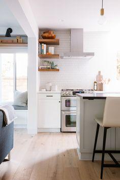 Samantha Gluck Emily Henderson Open Floor Plan - Home FTH - Home Decor Ideas Home Decor Kitchen, Kitchen Furniture, New Kitchen, Home Kitchens, Kitchen Small, Furniture Stores, Cheap Furniture, Kitchen Modern, Repurposed Furniture