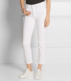 "SHOP WHITE JEANS:  M.i.h. jeans ""Niki Cropped Mid-Rise"" Jeans ($225)"