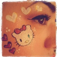 hello kitty cheek art