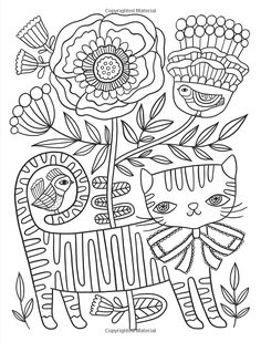 Posh Adult Coloring Book: Cats & Kittens for Comfort & Creativity (Volume (Posh Coloring Books) Cat Coloring Page, Coloring Book Pages, Coloring Sheets, Embroidery Stitches, Embroidery Patterns, Hand Embroidery, Doodle Pages, Doodle Art, Doodles