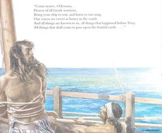 """""""Odysseus hungered to hear the Siren-song, so he ordered his men to bind him to the mast with strong ropes, and not to unbind him...until the island was well behind them."""" - Sutcliff (Alan Lee/Homer's Odyssey, Book 12/user: Aethon)"""