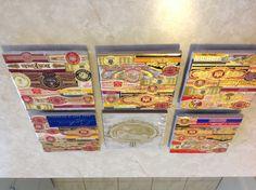 Cigar label coasters