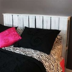 For Amberlie - Pallet Headboard with a shelf top and whitewashed.