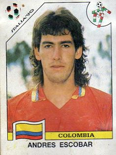 f2de322e66e Andrés Escobar - soccer player killed after he accidentally scored a goal  against his team in a World Cup match RIP