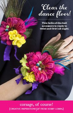 This DIY corsage is the perfect accessory for prom or your next special occasion!