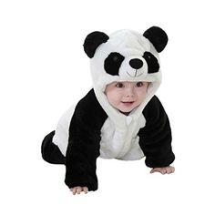 Bonjouree Barboteuses Bébé Garçon Manteau Capuche Bebe de Panda Mignon Costume de Enfants Garçon: combinaisons et barboteuses bébé garçon…