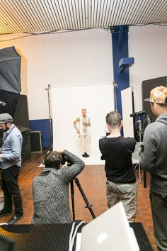 #MENSMARKET step into the photoshoot set up by Sandbox Studios @PROJECT