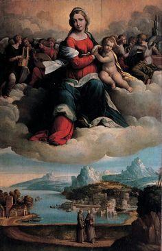 Madonna in gloria. 1530. Olio su tavola. Pinacoteca Capitolina.