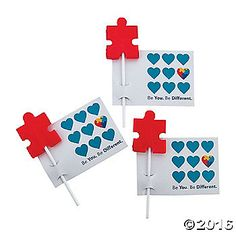 Our Autism Awareness Suckers with Cards are ideal giveaways at fundraisers and autism awareness banquets. They're a sweet reminder to love and support the ...