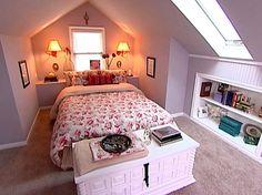 Overhaul an Awkward Attic Bedroom : HGTV FrontDoor Real Estate