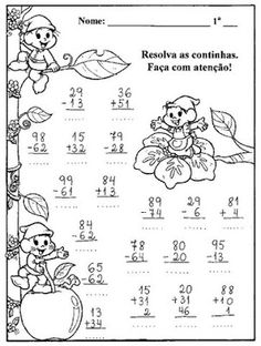 ATIVIDADES E PROVAS DE MATEMÁTICA 2º ANO Geography Worksheets, Kindergarten Math Worksheets, Preschool Math, Worksheets For Kids, Math Activities, Math Charts, Learning Websites, Classroom Inspiration, Addition And Subtraction