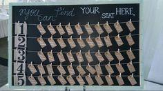 Chart Board Seating Chart