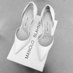 White Manolo Blahniks aka the best shoes ever made!