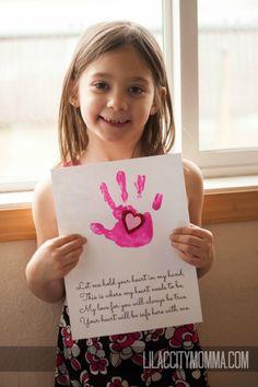 Handprint in Heart Valentines Day Gift