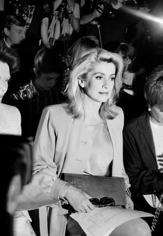 Catherine Deneuve, 1988 Photo: © 2014 Roxanne Lowit. Courtesy of Roxanne Lowit.