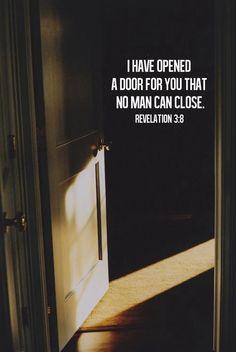 He opens doors.