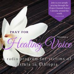 """Praise God that the audio drama """"Healing Voice"""" (for victims of fistula) in the Ari language has touched many lives in Ethiopia. Please continue to pray for production in the Amharic and Oromo languages. Prayers For Hope, Audio Drama, Christian Girls, Praise God, The Voice, Leadership, November, Calendar, Healing"""